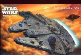 X POSTCARD PROMOCARD STAR WARS MILLENNIUM FALCON TEMATICA THEMATIC UFO ALIEN - Pubblicitari