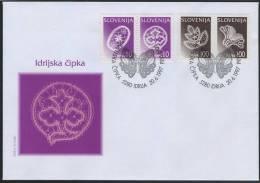 FDC Slovenia 1997 - Lace From Idria (Michel 196-197, 202-203) Mint FDC R1/97 - Slovénie