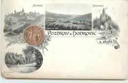 POZDRAV Z HODROVIC A Okoli  -  Carte Illustrée. - Slovaquie