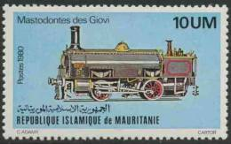 "Mauritanie Mauritania 1980 Mi 704 YT 466 ** ""Mastodonte Del Giovi"" (1853), Italy – Steam Locomotive / - Treinen"