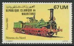 Mauritanie Mauritania 1980 Mi 708 YT 470 ** Locomotive Réseau Du Nord No. 170, France - Treinen