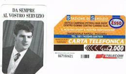 TELECOM ITALIA - OMAGGIO PRIVATE - CAT. C.&C. 3374 -  ESSO: ANTICA CAMPANA PETROLI BAR SHOP      2.000 - USATA - Italia