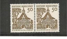 BrdMi.Nr.458/458**/ Ellwangen 1965, 50 Pfg. Kl. Bauten - BRD