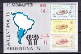 1978-Somalia-Mi Bl 6  (**) - Somalie (1960-...)