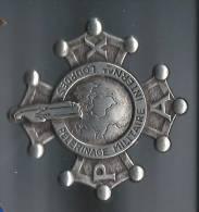Insigne / Pélérinage Militaire International / LOURDES/PAX/Vers  1950 ?   D210 - Religion & Esotérisme