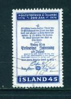 ICELAND - 1976 Postal Services 45k Used (stock Scan) - Used Stamps