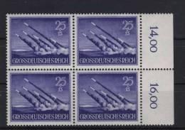 Deutsches Reich Michel No. 884 ** postfrisch Viererblock