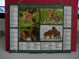 Nos Amis Les Animaux Sauvage - Calendrier Almanach Du Facteur - Oller 2012 ( Tous Comme Neuf ) - Calendriers