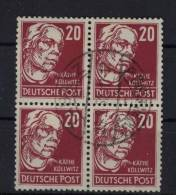 DDR Michel No. 333 v b X I gestempelt used Viererblock