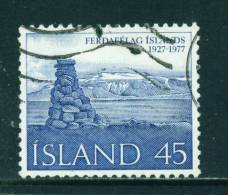 ICELAND - 1977 Touring Club 45k Used (stock Scan) - Used Stamps