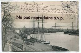 - 181 - NANTES - Vue Générale Du Port, écrite, Peu Courante, Beau 3 Mats, Pont Transbordeur, 1904, TBE, Scans. - Nantes