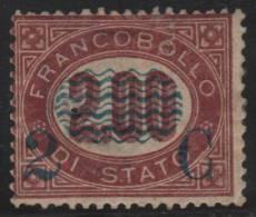 ITALIA 1878 - Yvert #30 (Fiscal) - MLH * (Rare!) - 1861-78 Victor Emmanuel II.