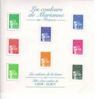 LES COULEURS DE MARIANNE EN FRANCS Les Valeurs De La Lettre 2/2 - Blocs & Feuillets
