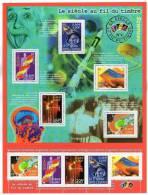 Timbres France 2001 - Bloc Feuillet N° 39 ** - Le Siècle Au Fil Du Timbre - Sciences IV - Blocs Souvenir
