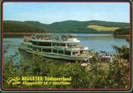 02067 - Motorschiff WESTFALEN - Personenschiffahrt Biggesee - Autres