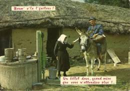 "CPSM HUMORISTIQUE : "" Boum 'v ' La L ' Facteur ! "" - Humor"