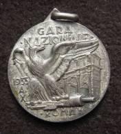 M01229 Gara Nazionale 1933 Roma Segno Italiana Di Tiroa Segno Flèche Aigle (14 G.) - Altri