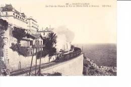 MONTE-CARLO  --  La Voie Du Chemin De Fer De Monte-Carlo à Monaco - Monaco
