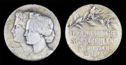 AG00092 Tir Schot Schuss, Suisse, Schweiz Schietzenfest Zurich 1907, Argent (10 G.) - Jetons & Médailles