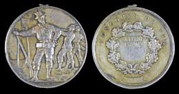 AG00093  Tir Schot Schuss, Concours De Tir, Fusils Cible, Argent (28 G.) - Jetons & Médailles
