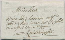589/20 - Lettre Précurseur 1782  VEURNE Vers ROUSBRUGGHE - 1714-1794 (Austrian Netherlands)