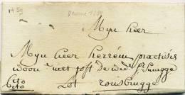 590/20 - Lettre Précurseur 1777  VEURNE Vers ROUSBRUGGHE - Manuscrit Cito Cito - 1714-1794 (Austrian Netherlands)