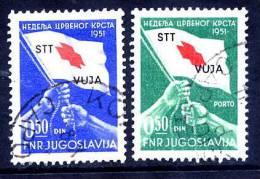 TRIEST ZONE B 1951 Tax Stamps Used.  Michel ZZM 3 ZZPM 3 Cat. €300 - 7. Trieste