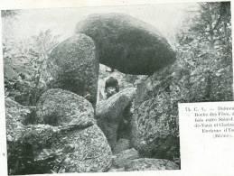 YZERON-dolmen De La Roche Des Fées- St-Laurent De Vaux - TBE - France