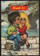 1973  -  France  -  CPM  -  Carte Postale  -  Poulbot  -   '' Le Premier Baiser ''  - - Fantaisies