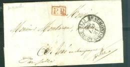 LAC De Maresché ( Sarthe ) Oblitéré Cad Beaumont Sur Sarthe En 1840 + Cachet PP En Rouge - Ax6502 - 1801-1848: Precursors XIX