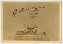 SWITZERLAND Cheese Fondue Des Cabinotiers CARTE LUMINEUSE PROPAGA 1952 Hold-to-light (3 Pictures) - Halt Gegen Das Licht/Durchscheink.