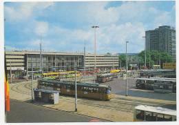 Rotterdam Centraal Station Met TRAMS SPOORWEGENc. 1965 - Rotterdam