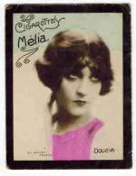 "CHROMO EROTIQUE FEMMES ARTISTE PIN UP Cigarettes MELIA Photo Manuel : "" DOUCIA  "" Portrait - Melia"