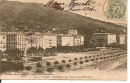 CORSE - BASTIA - Défilé Et Cérémonie Militaires Devant Tribune Place St-Nicolas - Précurseur Fabiani 1904 - Bastia