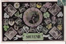 LANGAGE DU TIMBRE 2183  CARTE SOUVENIR 1908 - Timbres (représentations)
