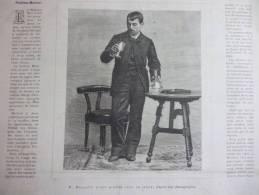 Merlatti A Son Dixiéme Jour De Jeune , Gravure Dutheil 1886 - Documenti Storici