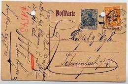 DR  P 133 II/02 Postkarte Kaufbeuren - Schweinfurt 1921  Kat. 14,00 € - Deutschland
