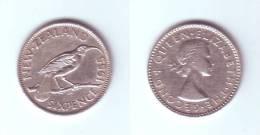 New Zealand 6 Pence 1955 - Nouvelle-Zélande