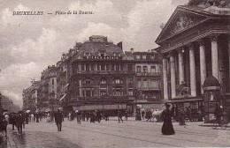 BRUSSEL BRUXELLES PLACE DE LA BOURSE  TRAM A CHEVAL ANIMATION - Avenues, Boulevards