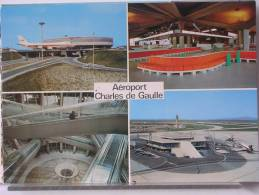 (95) - AEROPORT CAHRLES DE GAULLE - L'AEROGARE ET L'UN DES 7 SATELLITES - ETAT NEUF - Luchthaven