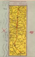 AVIATION CIVILE ~ 1949 - CARTE / AFFICHE PUBLICITAIRE - COMPAGNIE : CESKOSLOVENSKE AEROLINIE - ROUTES En EUROPE (n-610) - 1946-....: Modern Tijdperk