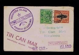 Tonga TIN CAN MAIL Despatche By Canoe Mail Office TONGAN ISLANDS Courrier NIUAFOOU Island  # 87852 - Tonga (1970-...)