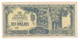 BILLET DE BANQUE DE MALAISIE ( Troupes D'occupation Japonaises : THE JAPANESE GOVERNEMENT ) /  TEN DOLLARS , 10 $ MP - Japon