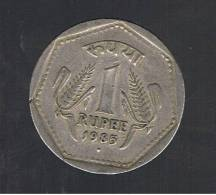 INDIA  -  1 Rupia 1985   (ceca Punto)  KM679 - India