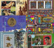 Set Äqatorial Guinea 10Block **/o 42€ Eastern Kunst Sport Raumfahrt Reiten Venus Gemälde Olympic Bf Bloc Sheet Of Africa - Stamps