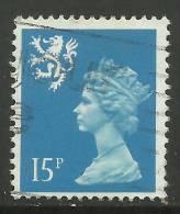 SCOTLAND GB 1989 15p Bright Blue Used Machin SG S56 ( K432 ) - Regional Issues