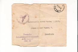 Devant De Lettre De Arlon 24/07/1944  Pour Carlsbourg  Avec Autorisation De L´occupant Allemand, Griffe Et Cachet Aigle - Franquicia