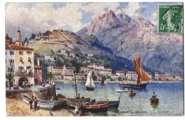 Carte Postale De Menton 1914 - 2 Scans - Menton