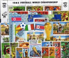 Fußball WM Argentinien Spanien Italien 1990 Korea Großes Lot O über 100€ Blocks ZD Kleinbogen Sets Soccer Sheet Of Corea - Stamps