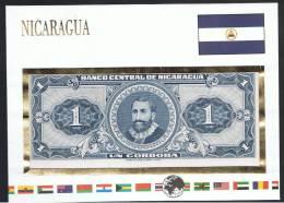NICARAGUA - Sobre Con Billete 1 Cordoba - Nicaragua